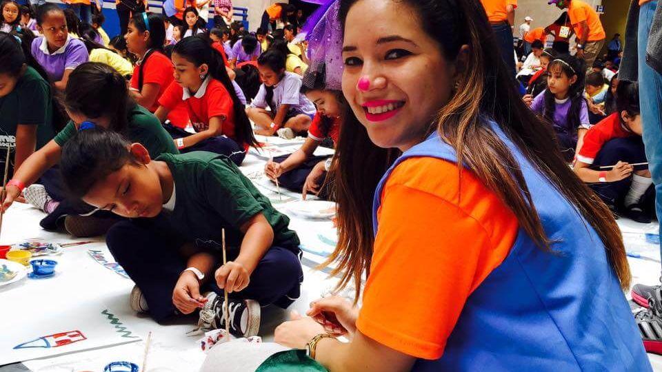 SULA pintó con los niños