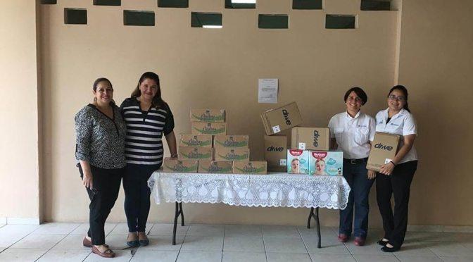 Las donaciones al Hospital San Felipe fueron estregadas por colegas de Gestión de Calidad