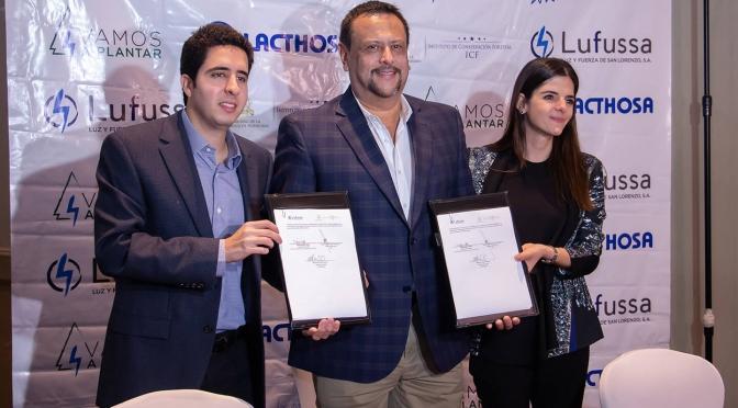 Lufussa y Lacthosa firman convenio Vamos a plantar con el ICF