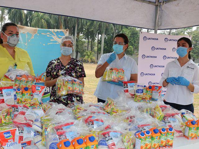 Lacthosa y Azunosa entregar 30,000 desayunos para personal médico
