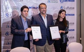 Lufussa y Lacthosa firman convenio Vamos a plantar en su tercera etapa con el ICF